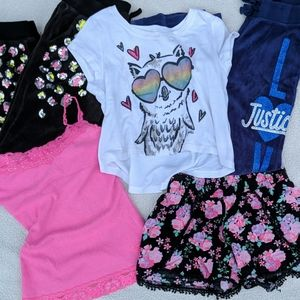 Justice Girls 5 piece Lot Size 7 & 8